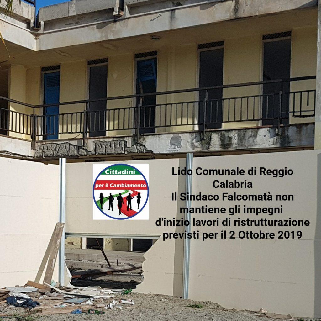Il presidente Nuccio Pizzimenti, le bugie del Sindaco  Falcomatà sui lavori di ristrutturazione del Lido Comunale 4