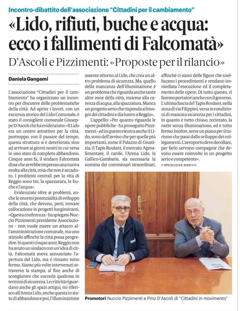 Conferenza stampa: Pizzimenti - D'Ascoli, il Sindaco Falcomatà si è dimostrato incompetente! 3