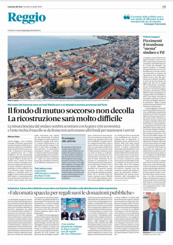 Nuccio Pizzimenti: I consiglieri Comunali del Centro-Destra del Comune di Reggio Calabria, sostegono la nostra iniziativa. 2
