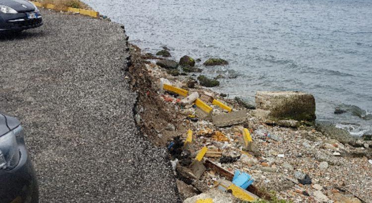 Nuccio Pizzimenti, il mare causa ingenti danni nell'area del tempietto: vi è anche un rischio incolumità per i cittadini. Il Sindaco Falcomatà intervenga con urgenza! 1