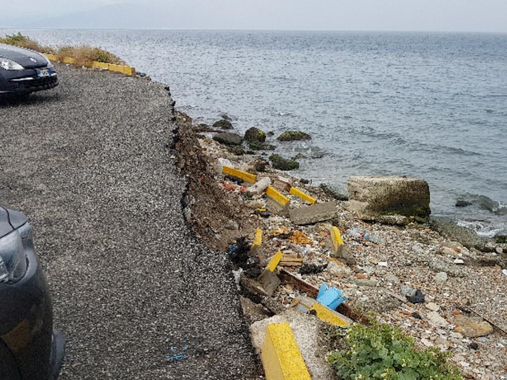 Nuccio Pizzimenti, il mare causa ingenti danni nell'area del tempietto: vi è anche un rischio incolumità per i cittadini. Il Sindaco Falcomatà intervenga con urgenza! 2
