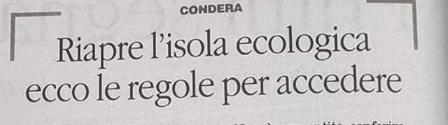 Reggio Calabria, Pizzimenti, raccolta rifiuti, riapre l'isola ecologica, in Via Reggio Campi. 1
