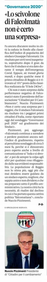 Nuccio Pizzimenti: non è un mistero, che anche nei sondaggi Falcomatà sia risultato all'ultimo posto tra i peggiori Sindaci d'Italia! 2