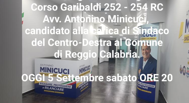 Antonino Minicuci inaugura la segreteria politica. 1